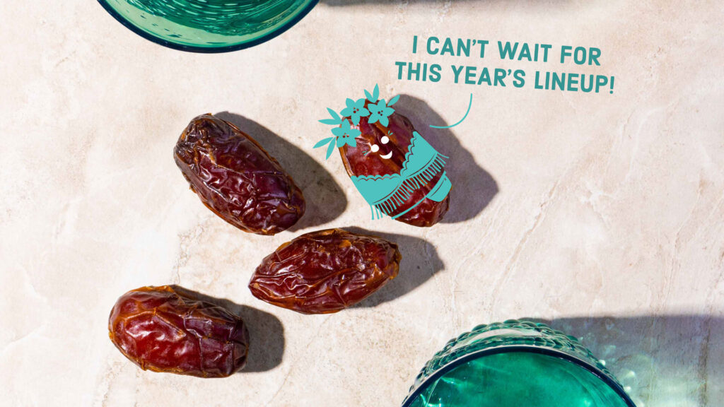 "date saying, ""I can't wait for this year's line-up."""