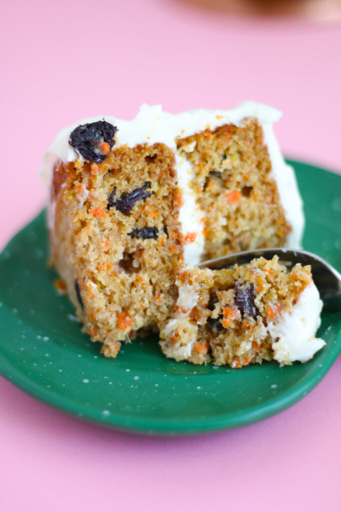 Take a bite of this delicious carrot cake!