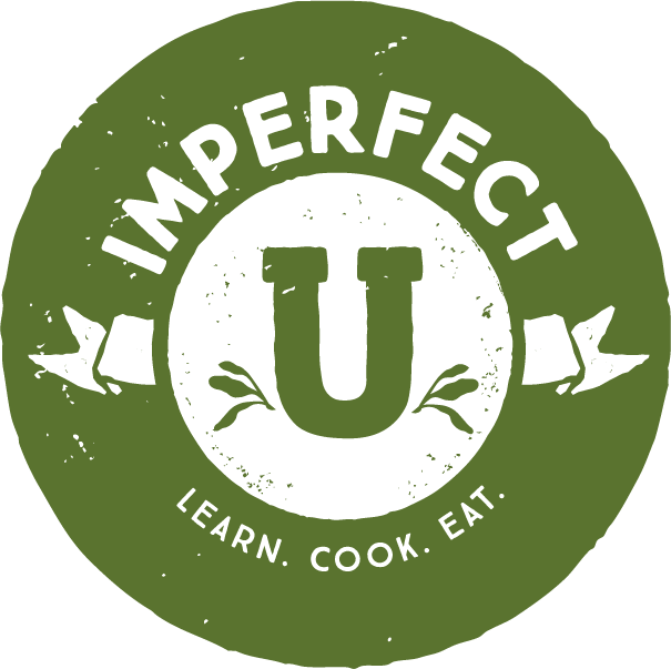 Imperfect U stamp. Learn. Cook. Eat.