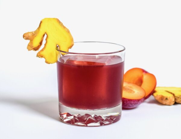 plum ginger cocktail