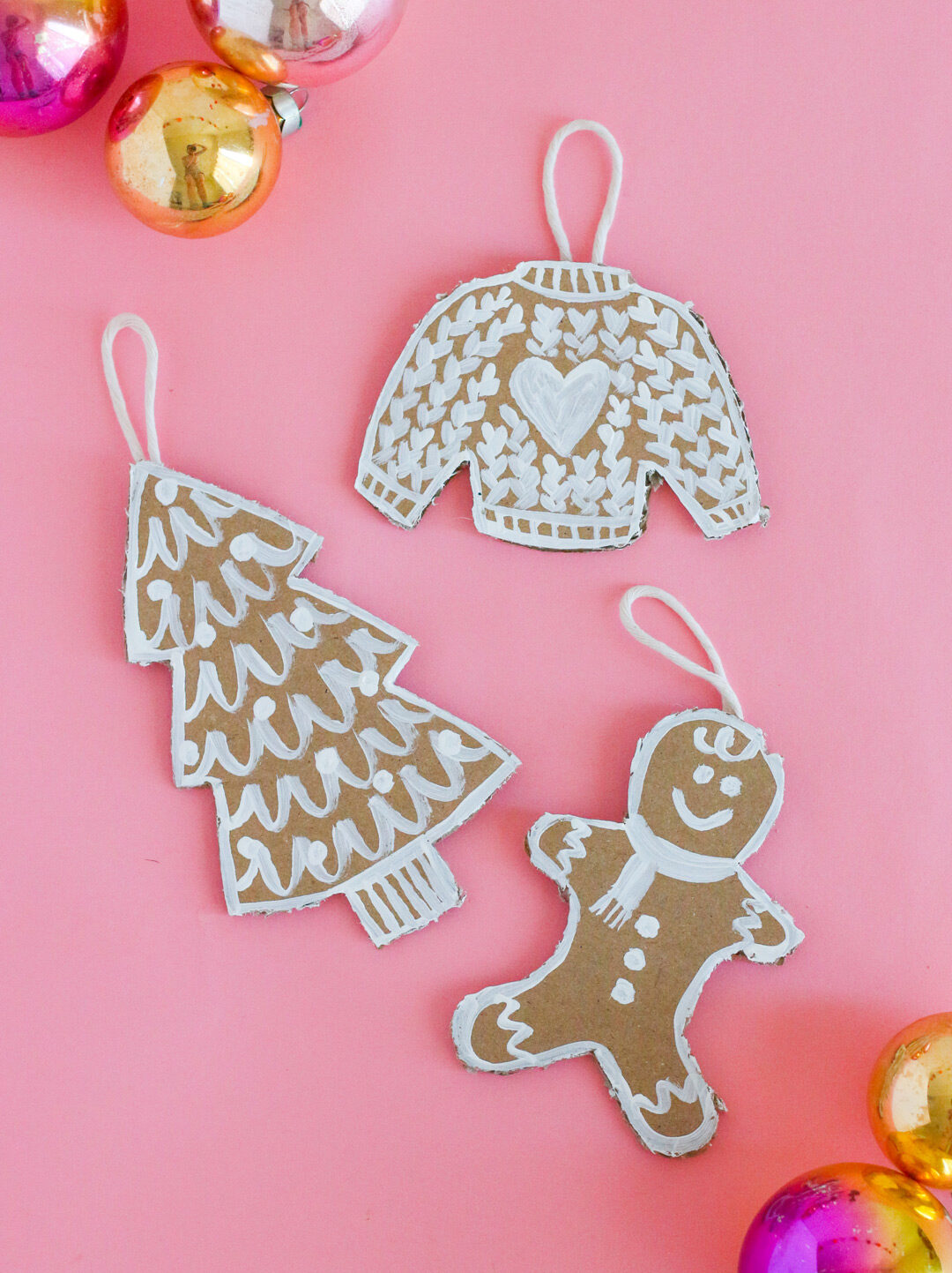 DIY Holiday Decorations: Cardboard Gingerbread Cookie Ornaments