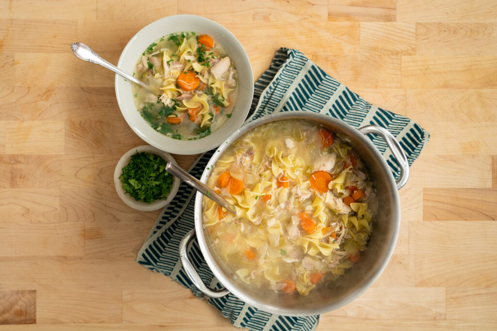 classic and healthy chicken noodle soup recipe