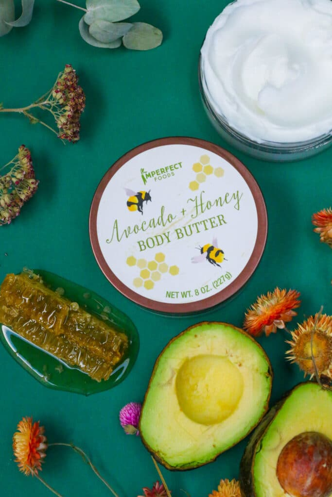 Avocado and honey Body Butter in our new bath, beauty, and health line