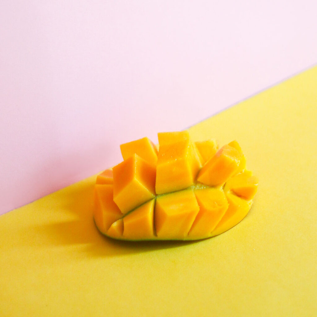 cubed mango for spring produce
