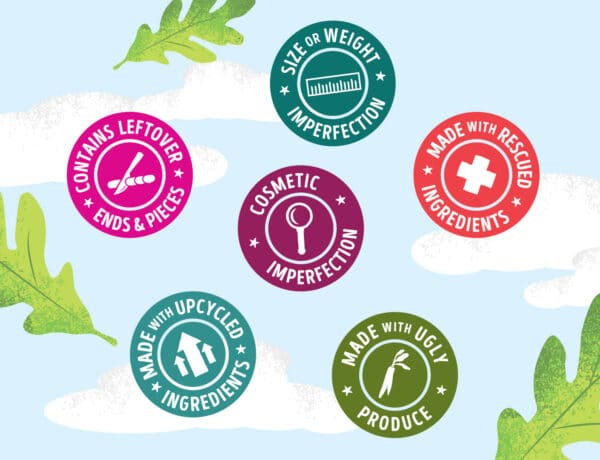 intentionally sourced food waste badges