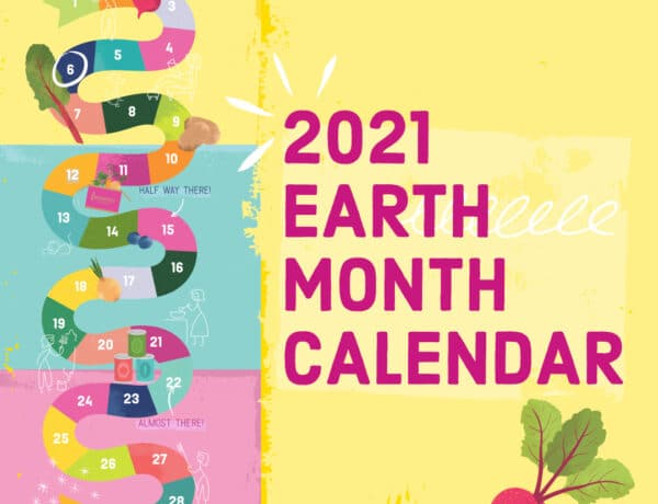 Imperfect and Mrs Meyers Earth Month Calendar