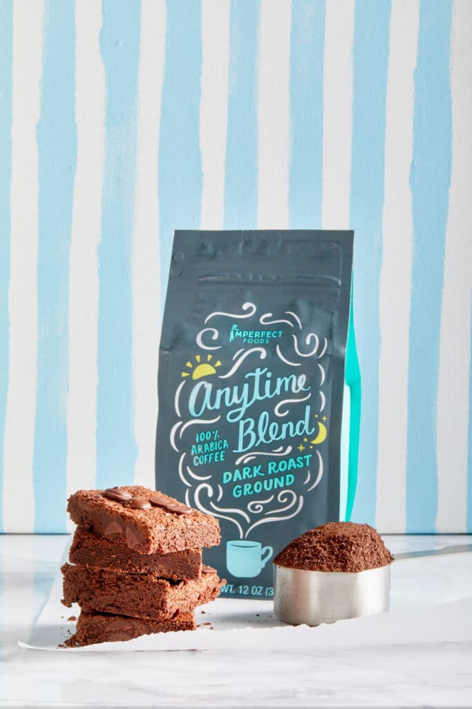 mocha brownies with anytime blend coffee