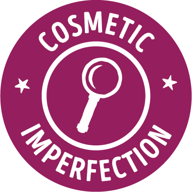 cosmetic imperfection badge - intentional sourcing