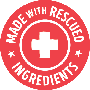 made with rescued ingredients badge