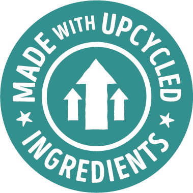 made with upcycled ingredients badge - intentional sourcing