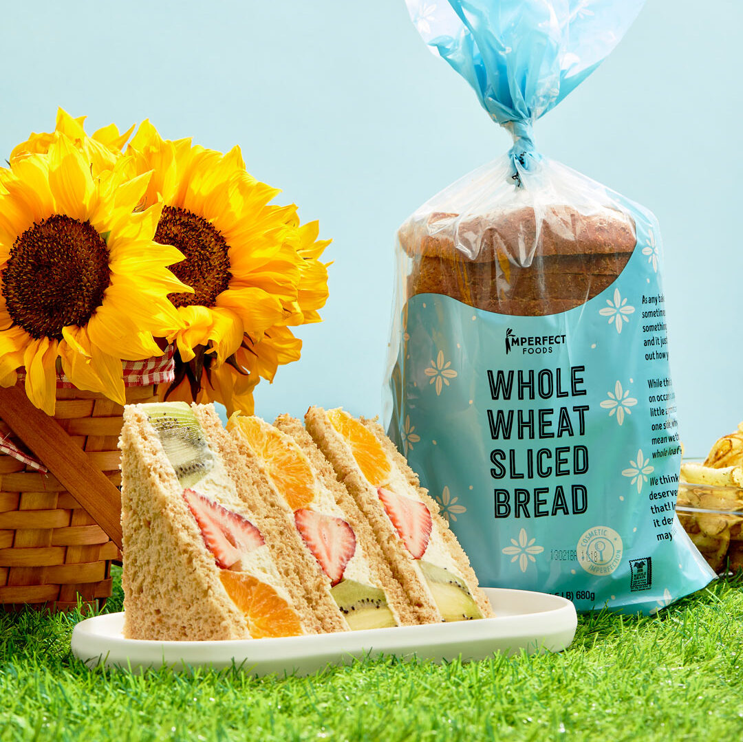 Japanese fruit sandwiches on whole wheat sliced bread