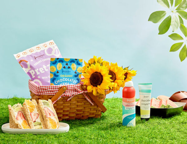 Imperfects summer grocery preview with a basket of goodies