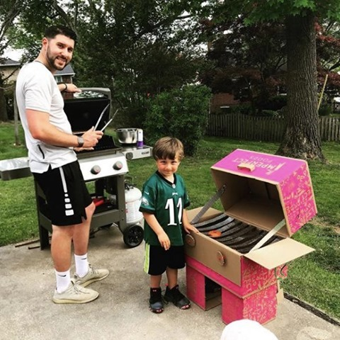 Creative ways to reuse an Imperfect box for a toy grill