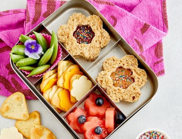 Bento Box Lunch Almond Butter and Jelly Sandwiches