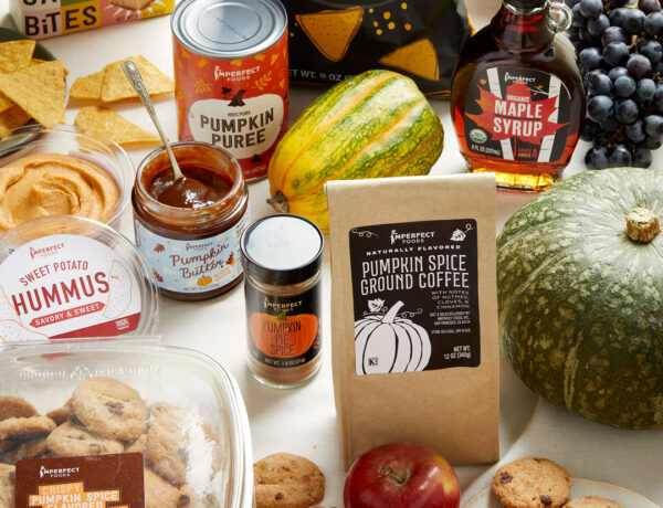 Imperfect fall produce and groceries