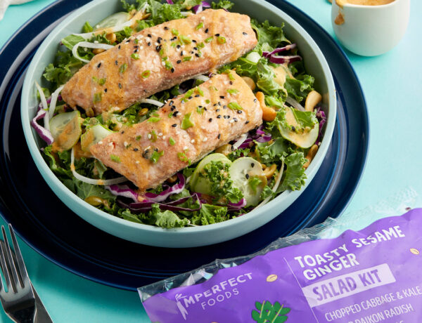 Easy Baked Miso Salmon with Sesame Ginger Salad