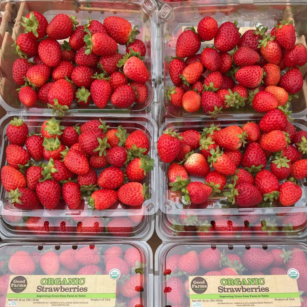 produce: too small and imperfect strawberries