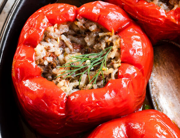 Herby Egyptian Stuffed Red Peppers (Mahshi)