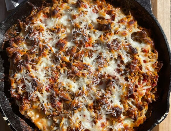 Chicken Parm Cast Iron Skillet Pizza from Seemore Meats